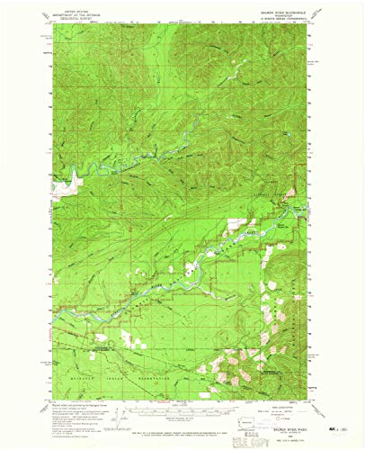(YellowMaps Salmon River WA topo map, 1:62500 Scale, 15 X 15 Minute, Historical, 1956, Updated 1965, 20.9 x 17 in - Paper)