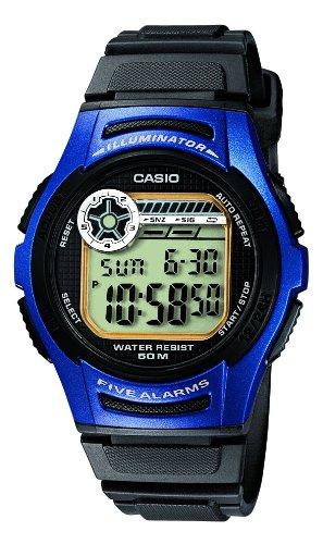 Casio Collection - Reloj digital de caballero de cuarzo con correa de resina negra (cronómetro, alarma, luz) - sumergible a 50 metros: Amazon.es: Relojes