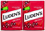 Luden's Wild Cherry Throat Drops | Deliciously Soothing | 90 Drops | 2 Bags, 90 Count (Pack of 2)