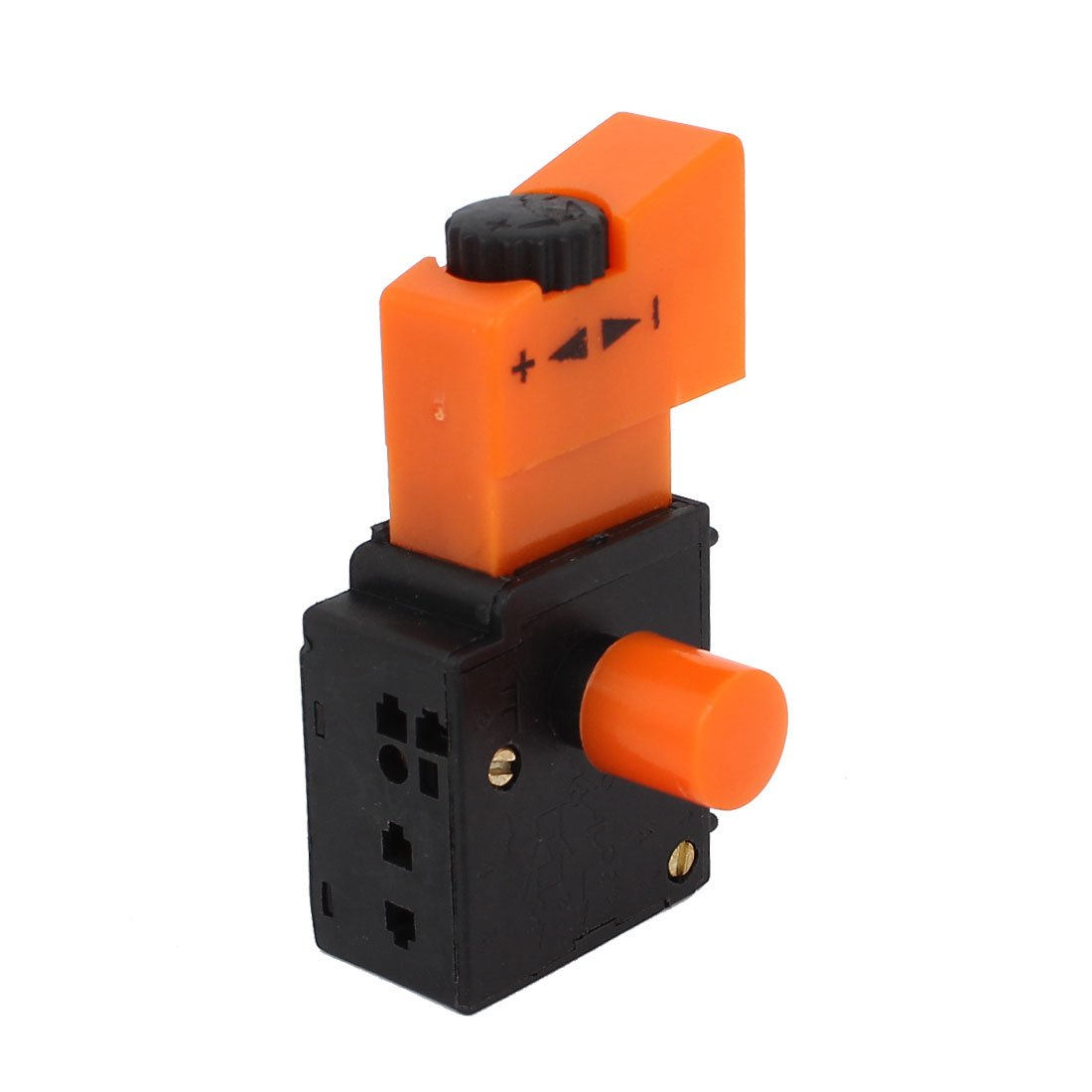 FA2-4//1BEK AC 250V 6A 5E4 SPST Lock on Power Tool Trigger Button Switch Orange
