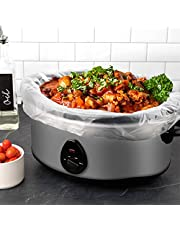 """Slow Cooker & crock pot Liners Fits 7 - 8 Quarts, Extra Large Crockpot Liners SIZE: 13'' x 21'' x 4'' Inches, 4"""" Gusset Bottom, Extra Large Crock Pot Liners, 20 pack"""