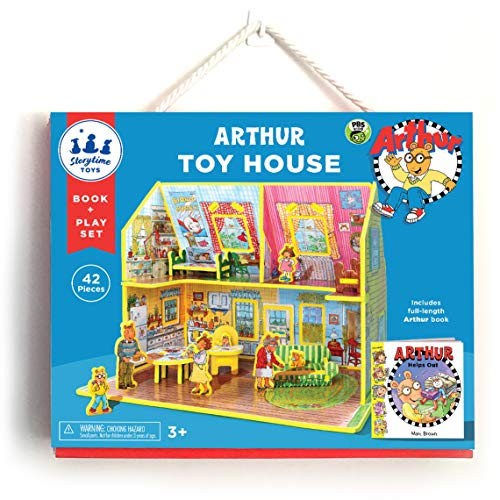 STORYTIME TOYS Arthur's Toy House Book and Playset - PBS Kids :: Take Apart STEAM Educative Toys (Arthur And Dw Dolls)