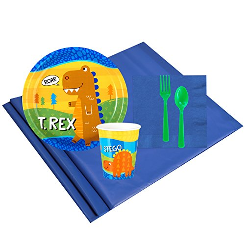 T-Rex Childrens Birthday Party Supplies - Tableware Party Pack (8)