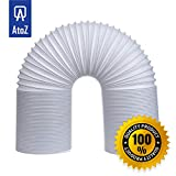 AtoZ Universal Exhaust Hose for Portable Air Conditioner (AC) 59 Inch Length/5 Inch Diameter/Durable/ with Counterclockwise
