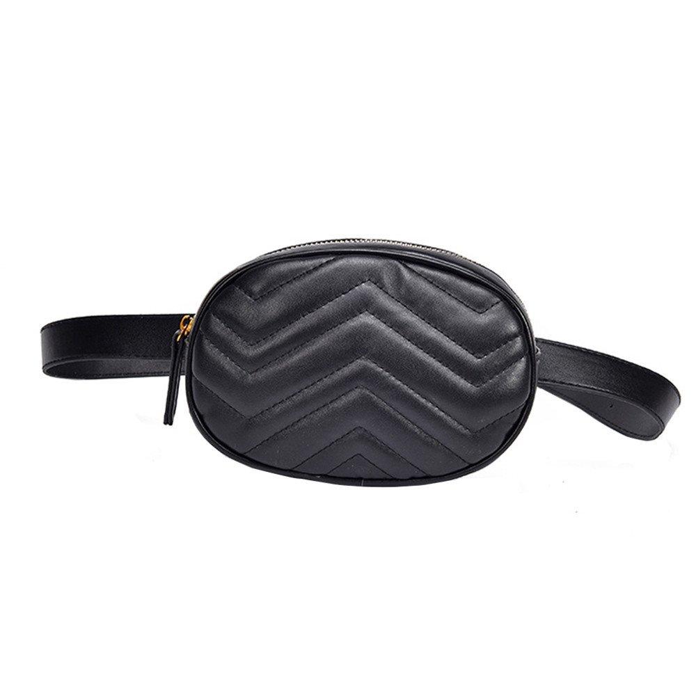 c5ae5cdb614 Lonshell Leather Bumbag Travel Chest Bag Waist Bag Adjustable Belt Hip Bum  Bag Waterproof Fanny Pack Messenger Shoulder Bag Running Zipper Money Pack  ...