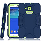 galaxy tab 3 bumper case for kids - Samsung Galaxy Tab E Lite 7.0 Case, Galaxy Tab 3 Lite 7.0 Case, Hocase Rugged Heavy Duty Kids Proof Protective Case for SM-T110/SM-T111/SM-T113/SM-T116 - Navy Blue/Lime Green