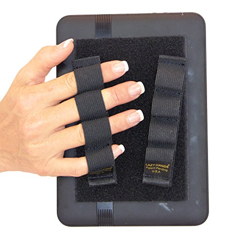 LAZY-HANDS 4-Loop Grips (x2 Grips) for e-Readers - FITS MOST (Black)