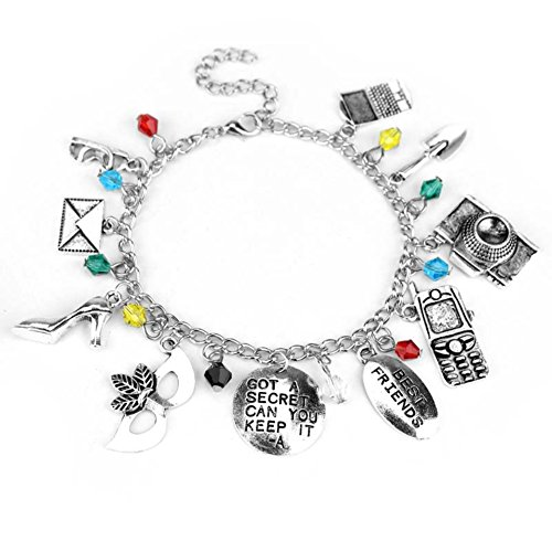 PRETTY LITTLE LIARS Themed Charm BRACELET GIRL WOMEN BIRTHDAY DIY GIFT LOVE FUN GAME TV SHOW - Diy Anime School Girl Costume