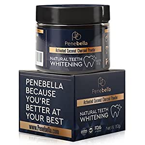 Activated Charcoal Teeth Whitening Powder - (2.7 fl Oz) - Natural Charcoal Teeth Whitener Product - Remineralizing Tooth Powder - Strengthen Teeth Enamel - Vegan - Fresh Mint Flavor