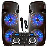 Light up the house! - Dj System - Lighted Powered Dual 15\