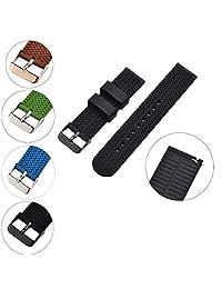 XiangMi - Correa de silicona de repuesto para reloj de pulsera para mujer, correa de goma suave de liberación rápida, diseño de neumáticos con textura resistente al agua, elección de colores, 18, 20 y 22 mm