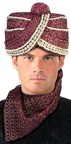 Forum Novelties Men's Maharaja Sheik Turban, Multi, One Size - Indian Maharaja Costumes