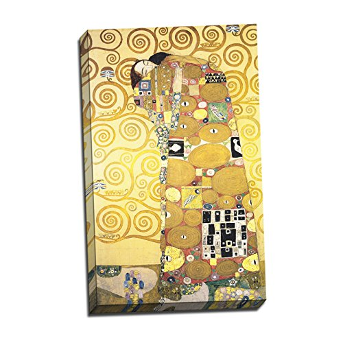 - Gustav Klimt Cartoon for the Frieze of the Villa Stoclet in Brussels Fulfillment Gallery Wrapped Canvas Giclee Print - Finished Size (W) 13.5'' x (H) 22'' (S09-02T-Stretched-Border) - Enhanced Image