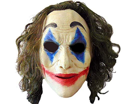 Joker Mask Crazy Jester Clown Adult Latex Comfort Fit, One Size