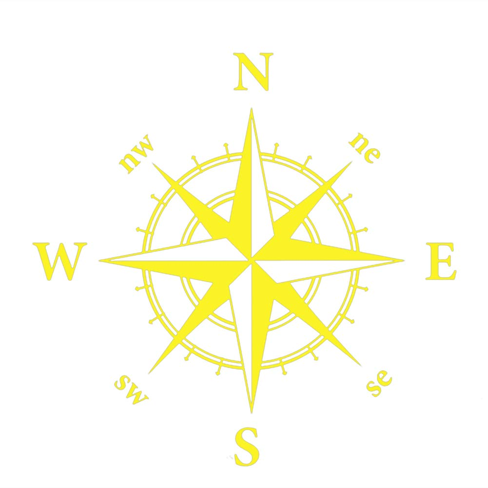 Amazon com xxiaothawxe stylish compass totem auto car suv vehicle hood decal bonnet sticker decoration yellow baby