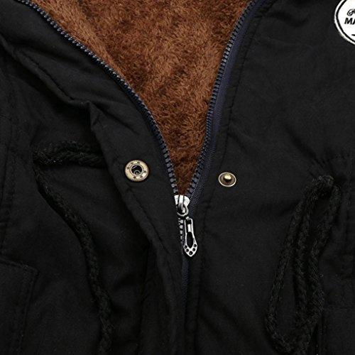 Outwear Jacket Capucha Parkas con Caliente Abrigos De de Acolchado Militar Invierno Mujer Negro Coats Chaqueta Anorak K youth® AZwRq