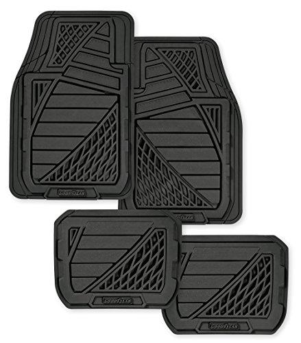 Goodyear GY6204 Black Universal Premium Rubber Floor Mat Set - 4 Piece