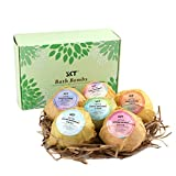 Bath Bombs Fizzies Gift Set 6Pcs for Aromatherapy Bubble & Spa, Fizzing Vegan Bath Bomb Balls contains Natural Essential Oil for Moisturizing Normal/Dry Skin - 6 Fragrances