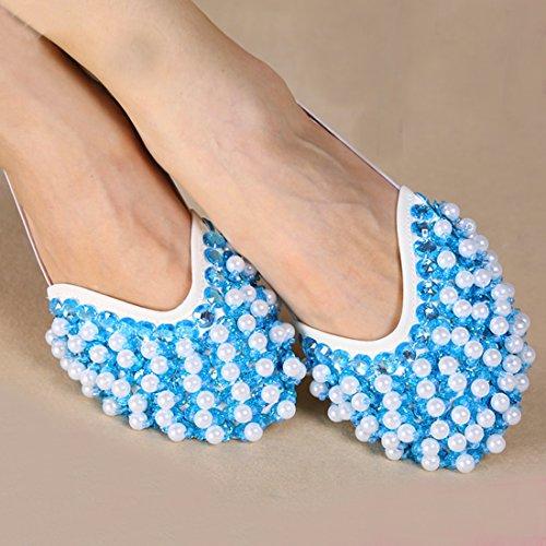 Calcifer® marca nueva egipcio Egipto zapatos de danza del vientre disfraz regalo para gran fiesta Navidad azul celeste