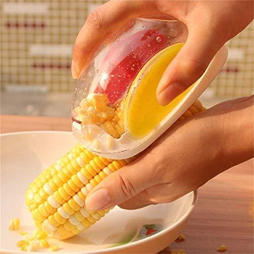 Corn Stripper Alamic Corn Cutter - Corn Cob Peeler Quick Corn Cob Remover Corn Kerneler Corn Shucker Kitchen Cooking Tools with Hand Protector