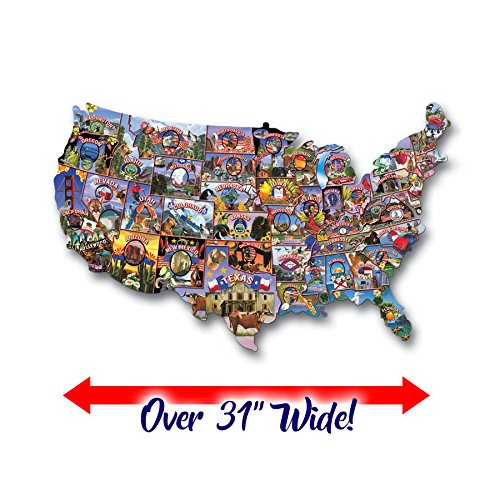 TDC Games USA Shaped Puzzle Roadtrip America - Of Mall America Map Store