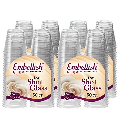 Embellish Hard Plastic 1oz Clear Shot Glass 200 Count