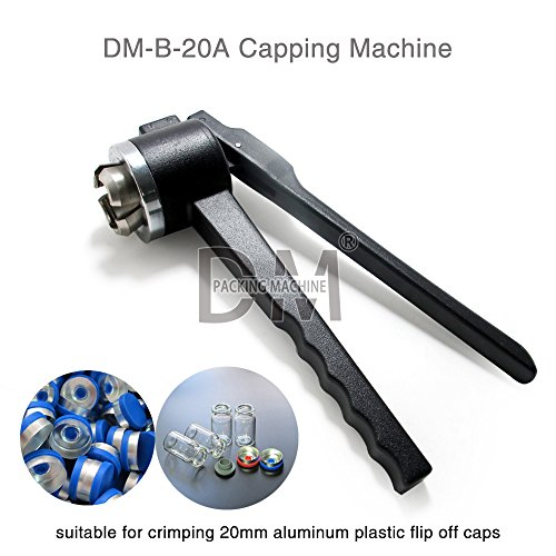 DM Manual Vial Crimper 20MM Crimper Medical Bottle Cap Crimping Tool Antibiotics Bottle Capper Machine Hand Held Capping Machine by DM PACKING MACHINE