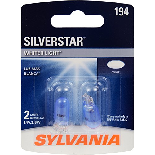 SYLVANIA 194 SilverStar High Performance Miniature Bulb, (Contains 2 Bulbs)