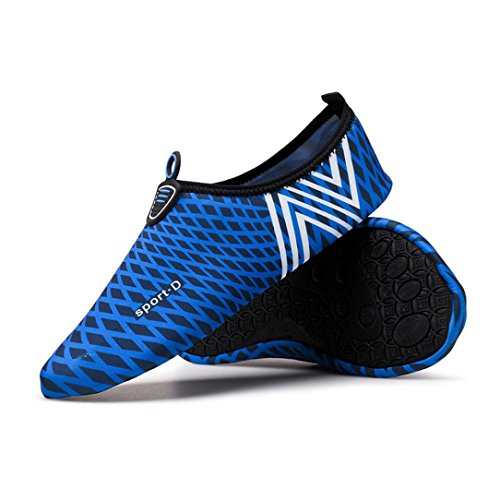 Men Yoga Dark Socks Aqua Water Dry Blue Quick Exercise Women Water Shoes Beach Surf Kingwo Shoes PEqEwx6A