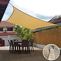 Toldo Vela de Sombra para Patio Exteriores Jardín,Vela de Sombra Beige Duradera, HDPE Anti-Ultravioleta Patio Sky-2.5 * 3: Amazon.es: Hogar