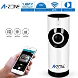 A-ZONE 720P Play & Plug Mini New Network,185 Degree HD WiFi Video with Baby Care Monitor Security Surveillance ,Two Way Audio