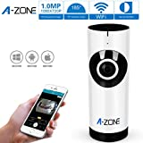 A-ZONE 720P Play & Plug Mini New Network,185 Degree HD WiFi Video with Baby Care Monitor Security Surveillance,Two Way Audio