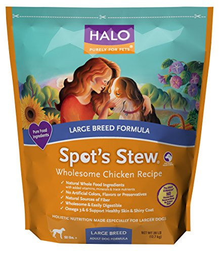 Halo Spot's Stew Large Breed Dog Wholesome Chicken Recipe, 28-Pound