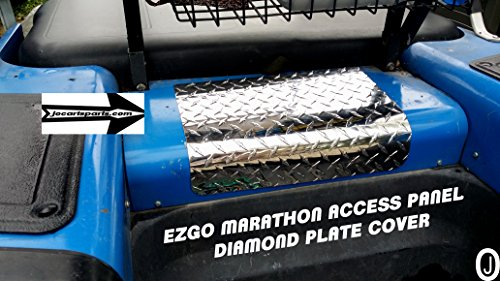 Ezgo Marathon Golf Cart polished Aluminum Diamond Plate Small Access Panel (Polished Aluminum Golf)