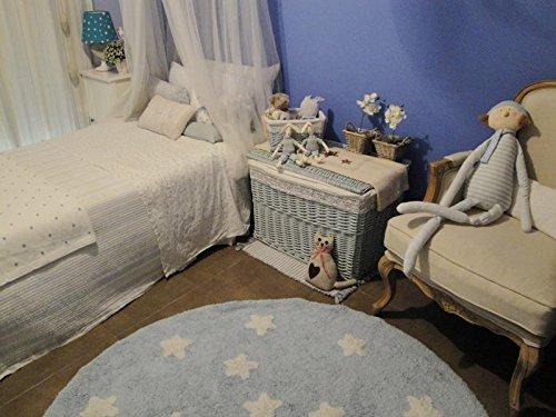 Lorena Canals Alfombra Infantil Lavable Modelo Cielo Color Azul