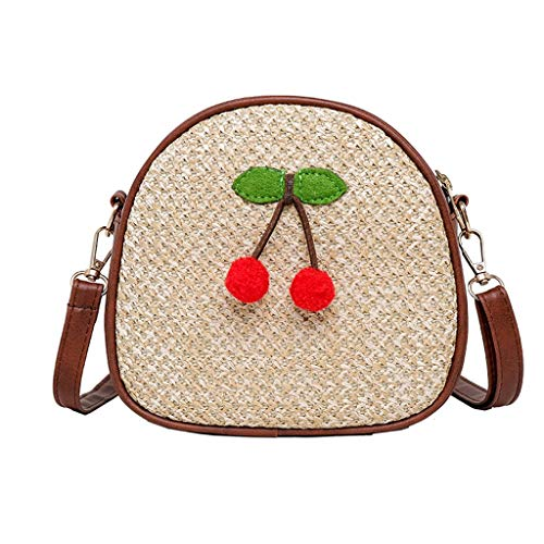 (Hot Sale!DDKK bags Handwoven Round Rattan Bag Tropical Beach Style Woven Shoulder Rattan Bag with Leather Strap- Bamboo Summer Beach Sea Tote)