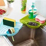 2Pcs Practical Kitchen Sink Corner Storage Rack Sponge Holder Wall Mounted tray kitchen organizer shelf accessories spice rack