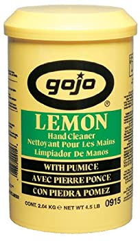 Gojo Lemon Pumice Hand Cleaner, Lemon Scent, 4.5 lb Tub, Six 4.5 pound cartridge refills per case, Sold by the Case B00065TSPM 169666