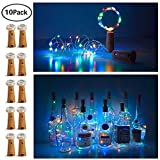 interesting diy patio decor ideas 20 LED Bottle Cork String Lights Wine Bottle Fairy Mini String Lights Copper Wire, Battery Operated Starry Lights for DIY Christmas Halloween Wedding Party Indoor Outdoor,10 Pack (Colorful - Steady)