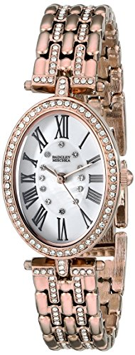 badgley-mischka-womens-ba-1356wmrg-swarovski-crystal-accented-rose-gold-tone-bracelet-watch