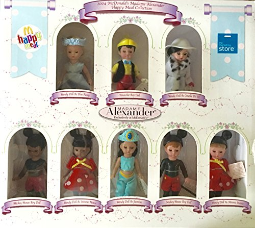 2004 LE Madame Alexander Happy Meal Collection of 8 Disney (Le Meal)