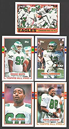 5d3ec7c6ad4 Image Unavailable. Image not available for. Color: 1989 Topps Football Team  Set - PHILADELPHIA EAGLES