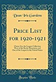 Amazon / Forgotten Books: Price List for 1920 - 1921 Choice Iris, the Largest Collection West of the Rocky Mountains and One of the Largest in the United States Classic Reprint (Dean Iris Gardens)
