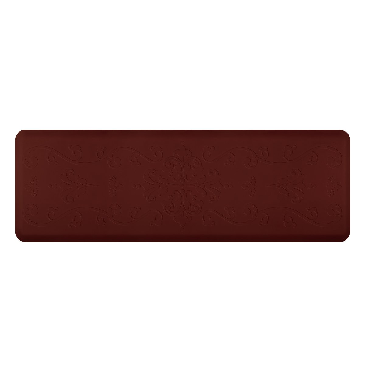 WellnessMats Anti-Fatigue 72 Inch by 24 Inch Entwine Motif Kitchen Mat, Burgundy