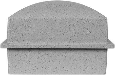 Perfect Memorials Crowne Vault Single Urn Burial Container Gray Plaque