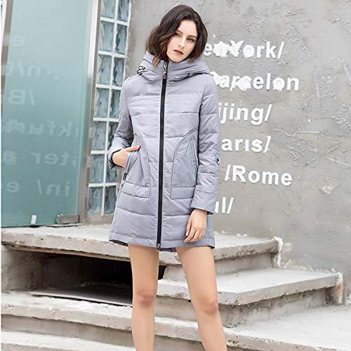 Gray Basic Collo Pelliccia Con Invernale Piumino Cerniera Xcxdx In Cappotto Chiusura Donna Da B5wqxw47R
