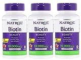 Natrol Biotin Fast Dissolve Tablets, Strawberry Flavor, 10,000mcg, 60 Count (3 Pack)