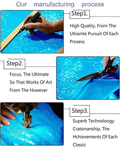 ShinyBeauty Sequin Backdrop-Aqua Blue 10FTx20FT Sequin Photo Backdrop,Photo Booth Background,Sequence Christmas Backdrop Curtain (10FTx20FT, Aqua Blue) by ShinyBeauty (Image #5)