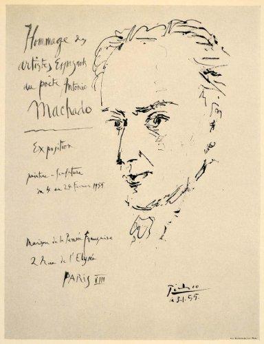 1971 Print Picasso Antonio Machado Portrait Poster 1955 - Original Print