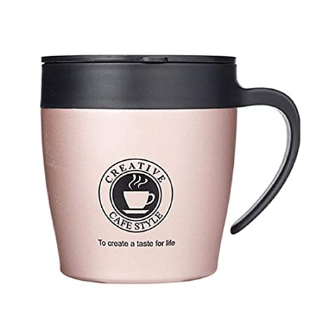 5edca655d95 Leo565Tom Insulated Travel Mug Thermos Cup Stainless Steel Vacuum Office  Coffee Cup Anti-Scald Mug